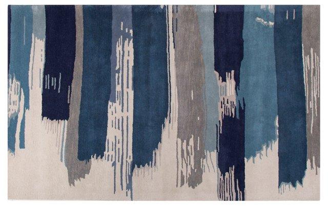 Waie Rug, Blue/Ivory