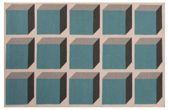Milena Flat-Weave Rug, Green