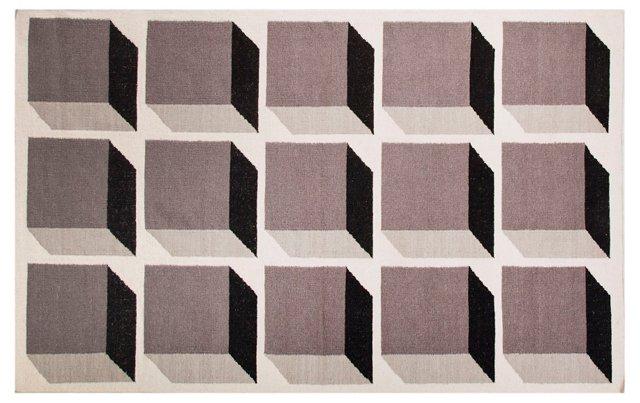 Milena Flat-Weave Rug, Brown