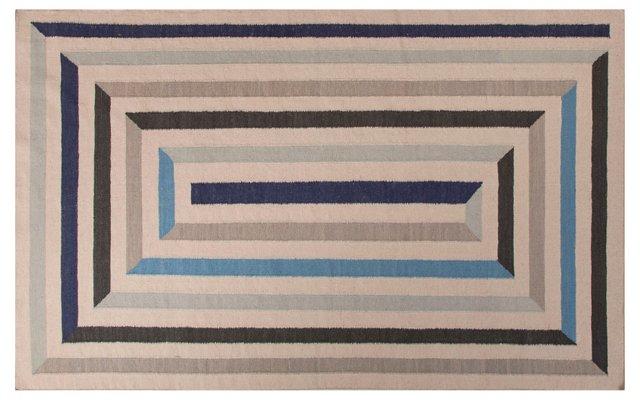 Zaran Flat-Weave Rug, Blue