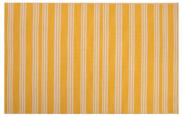 Asti Flat-Weave Rug, Blue/Ivory