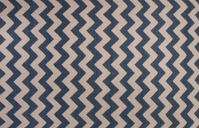 Franlie Flat-Weave Rug, Blue