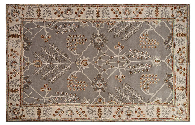 Malcolm Rug, Gray/Ivory