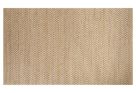Colby Jute-Blend Rug, Natural/Ivory
