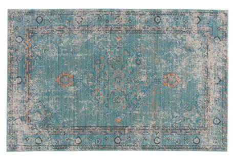 Hamilton Rug, Gray/Blue