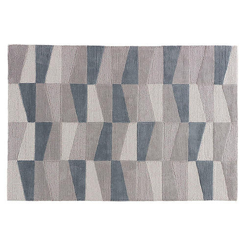 Foster Rug, Gray/Blue