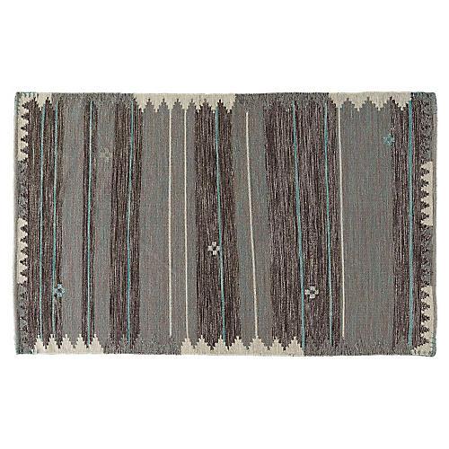 Sienna Flat-Weave Rug, Blue/Black