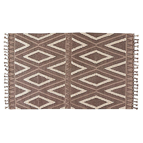 Wilson Rug, Brown/White