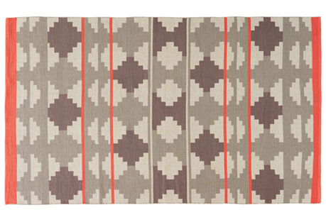 Tupelo Flat-Weave Rug, Gray/Pink