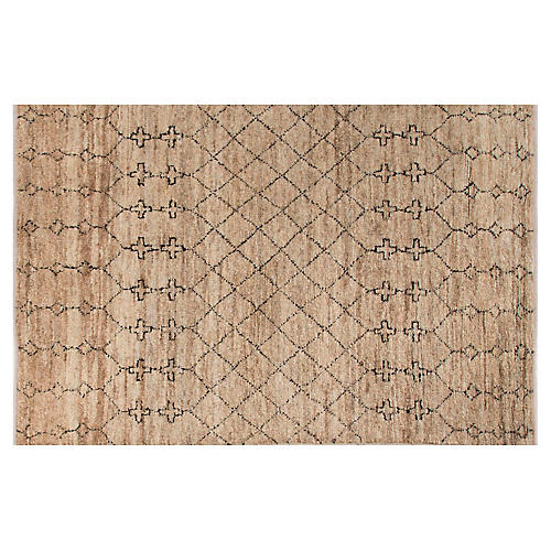 Siwal Rug, Natural/Black