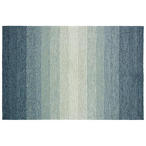 John Outdoor Rug, Gray/Blue