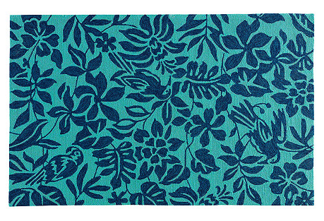 Liam Outdoor Rug, Blue