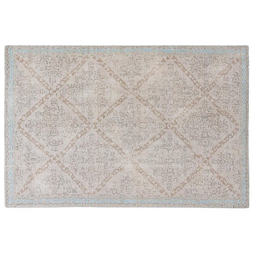 Aster Rug, Gray/Silver