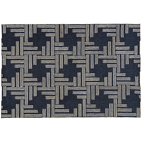 Mandeville Outdoor Rug, Black/Pebble