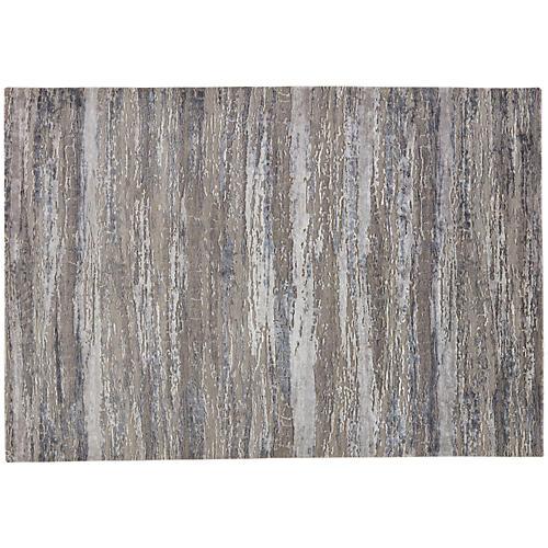 Porus Rug, Charcoal/Gray