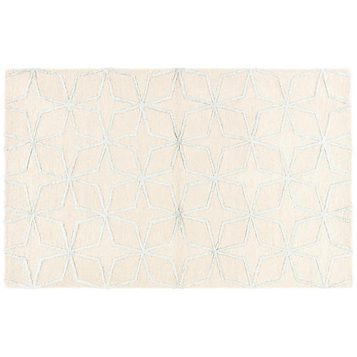 Warner Rug, Cream/White