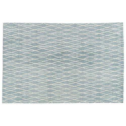 Forster Rug, White/Blue