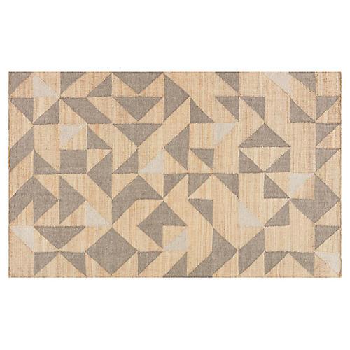 Kanavos Flat-Weave Rug, Beige/Gray