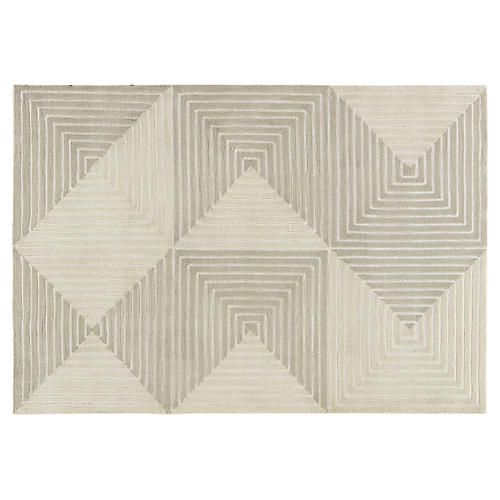 Taxel Rug, Gray/Cream