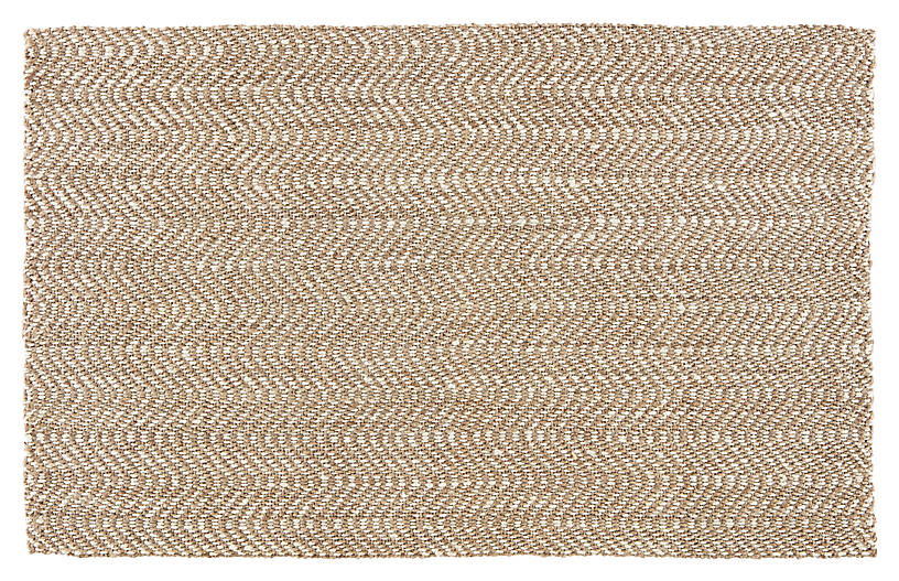 Tracht Jute Rug, Taupe/White