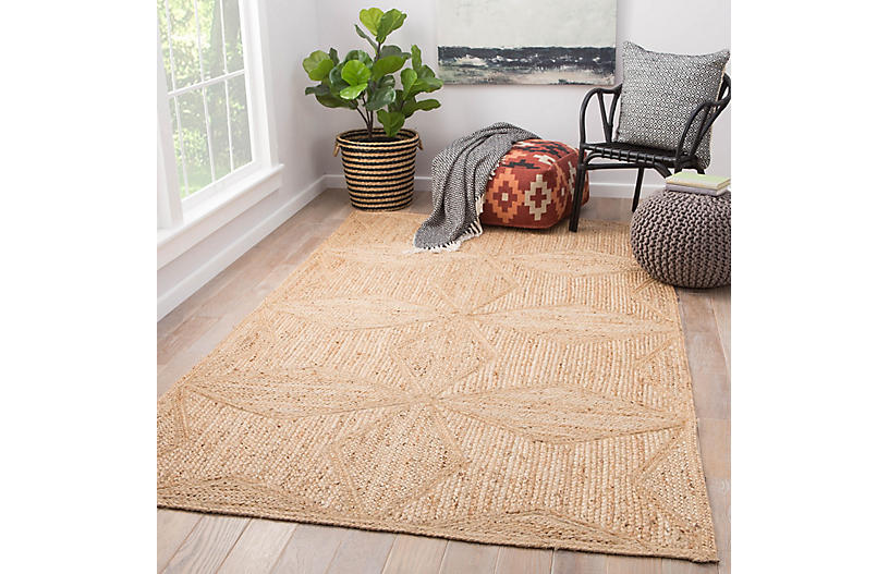 Peyser Jute Rug Beige One Kings Lane