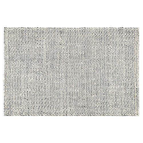 Hassan Jute Rug, White/Gray