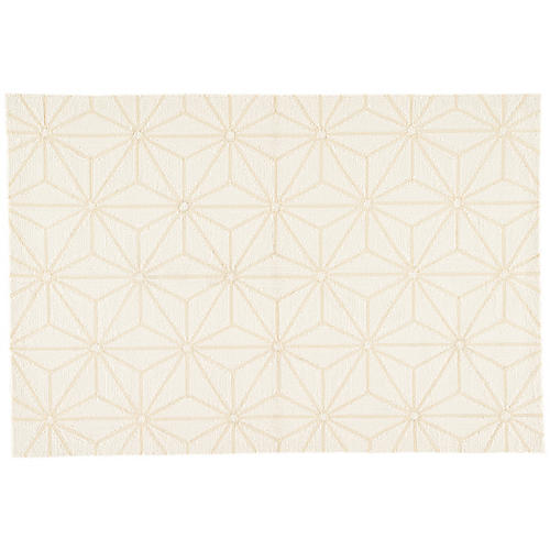 Calabro Outdoor Rug, White/Cream