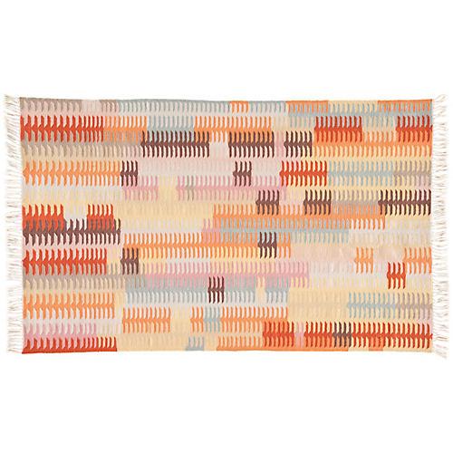 Wilton Outdoor Rug, Orange/Brown