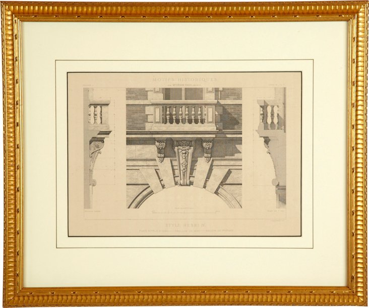 Framed Architectural Drawing I