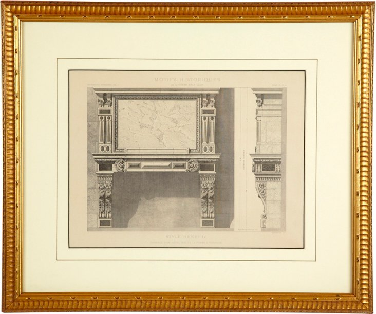 Framed Architectural Drawing V