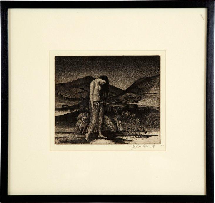 Seule (17) Etching, 1923