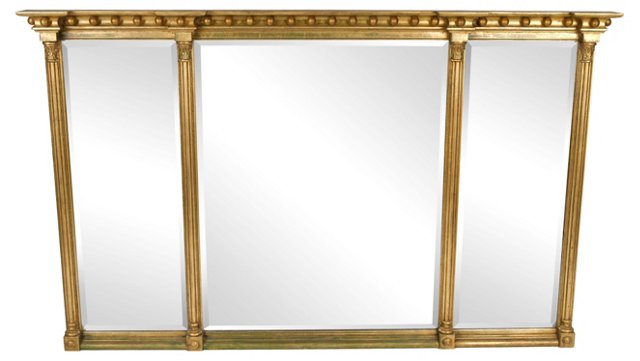 Sectional Gold Mirror
