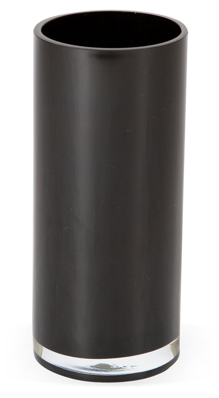 Black Glass Vase