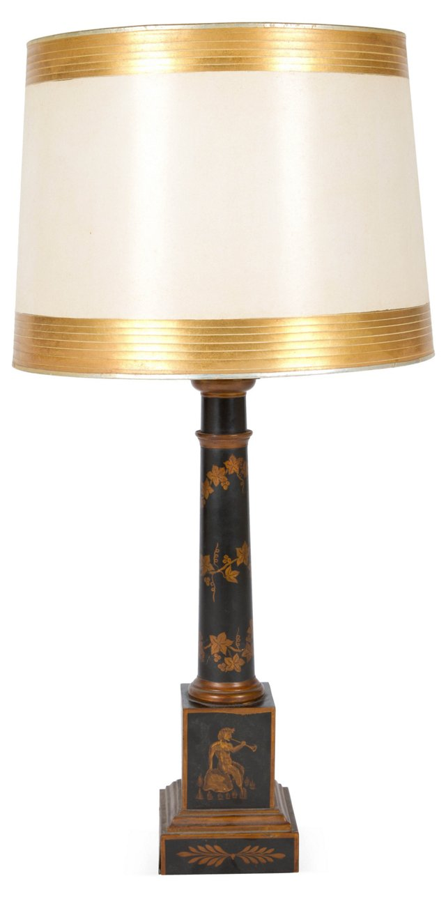 Japanned Table Lamp