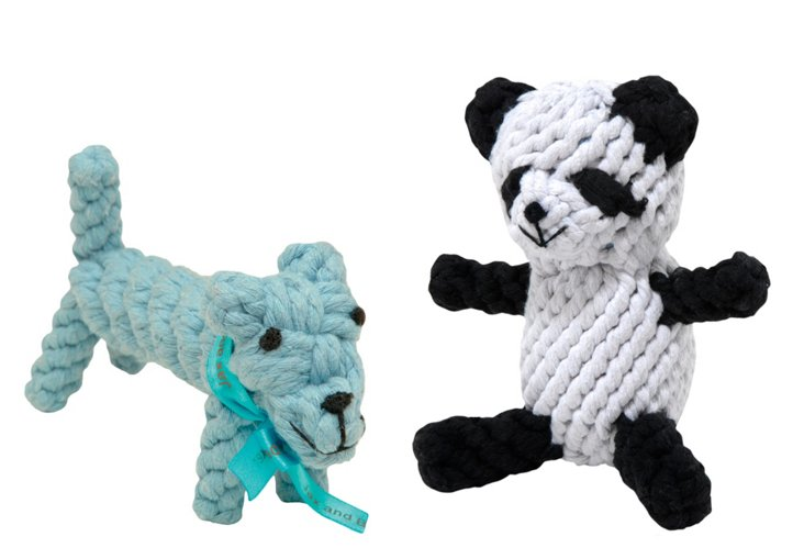 Dog and Panda Rope Toy Set