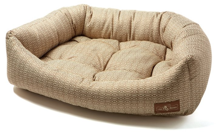 Hula Napper Bed, Brown/White