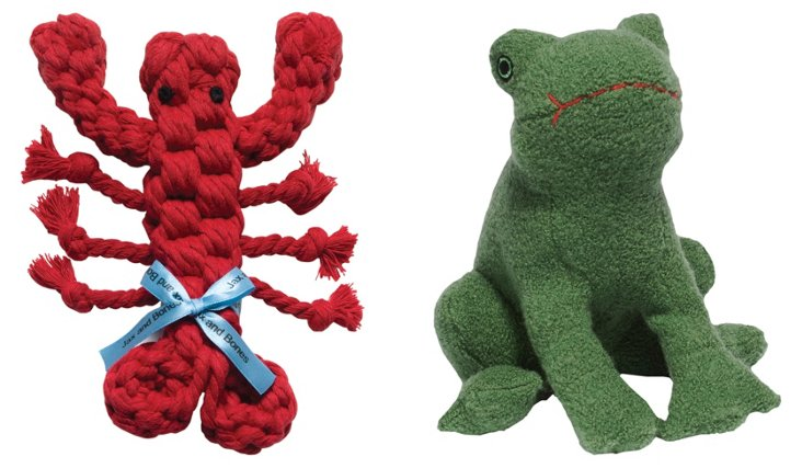 Lobster and Frog Toys