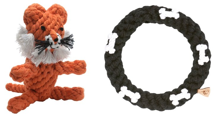 Dog Bone Ring and Tiger Rope Toys