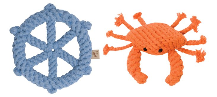 Crab & Wheel Rope Toys