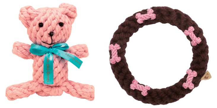Bear and Brown Ring Rope Toys