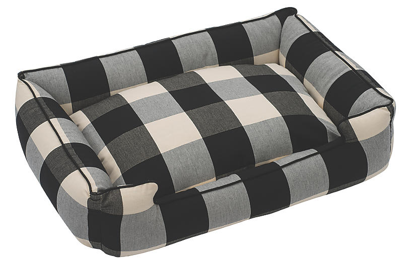 Buffalo Check Pet Bed, Black