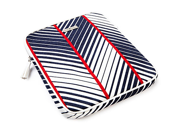 iPad Case, Navy Chevron