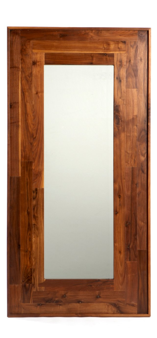 "Reclaimed Wood Mirror 72"", Walnut"