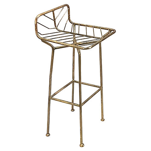 Jani Barstool, Antiqued Brass