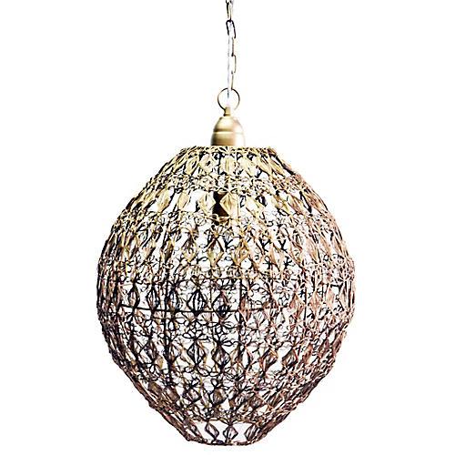 Vela Cumulus Pendant, Antiqued Brass