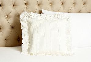 Elisa Ruffled Toss Pillow, Cream