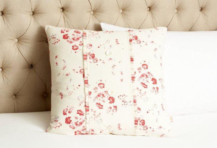 Sarah Porch Pillow, Cream/Red