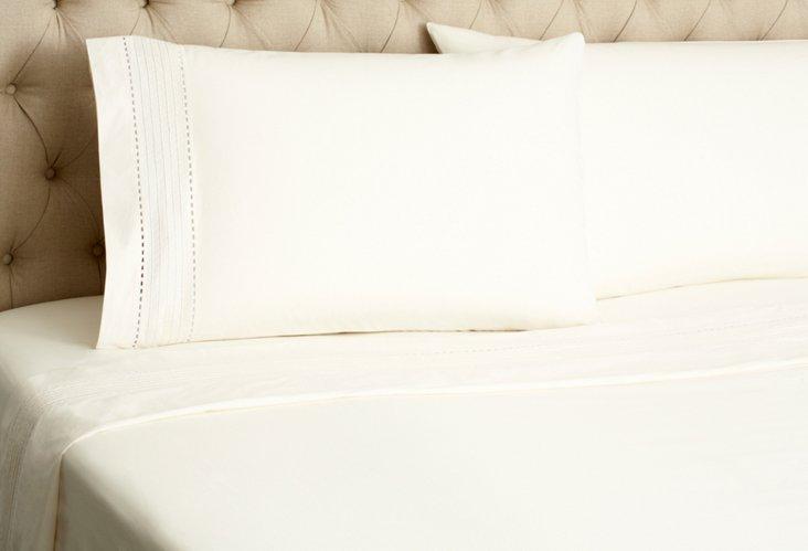 Tailored Pinefore Sheet Set, Cream