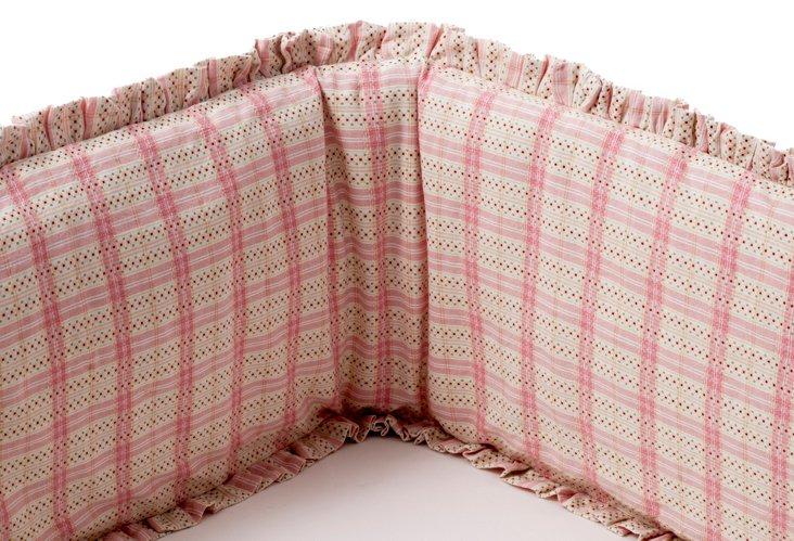 Plaid Dobby Bumper, Pink