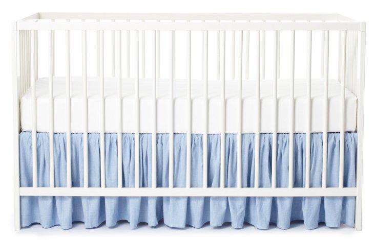 Chambray Crib Bed Skirt